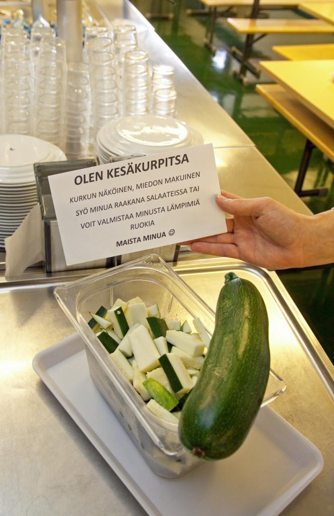 Tänään tarjolla kesäkurpitsaa_esittely_Kepolan koulu_Samuli Vahteristo